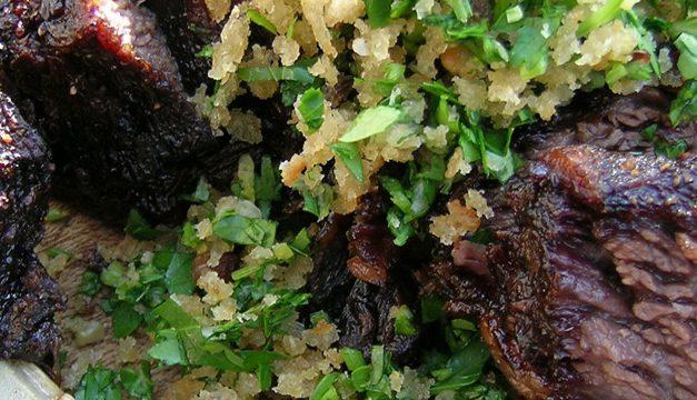 Smoky Beef Short Ribs with Gremolata